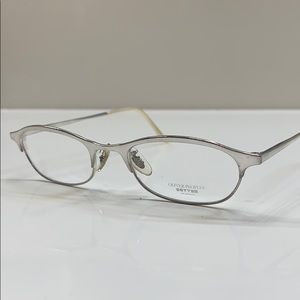 Oliver Peoples Silver Titanium Optical Frame